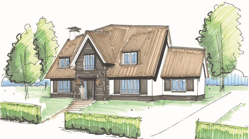 Inspirerende schetsen - Lichtenberg Exclusieve Villabouw